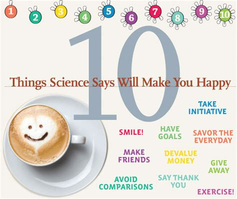 10 Things That Will Make You Happy by 10 Things Science Says Will Make You Happy By Jen