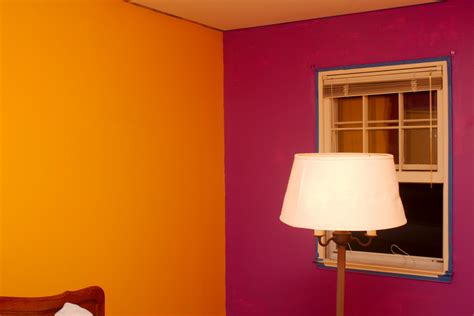 colored wall painting rooms two different colors home combo