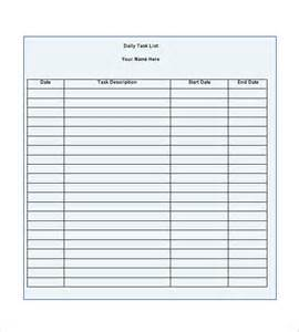 daily task list template word task list template 10 free word excel pdf format