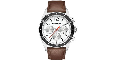 coach s chronograph sullivan sport brown leather