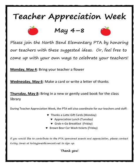 Teacher Appreciation Week Schedule Yahoo Image Search Results Teacher Appreciation Sle Newsletter Templates For Teachers
