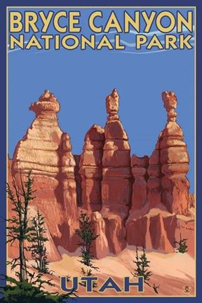 bryce canyon summer fine art print  lantern press