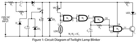 led blinker circuit diagram twilight l blinker electronics project