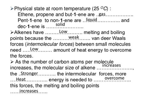 carbon physical state at room temperature alkane