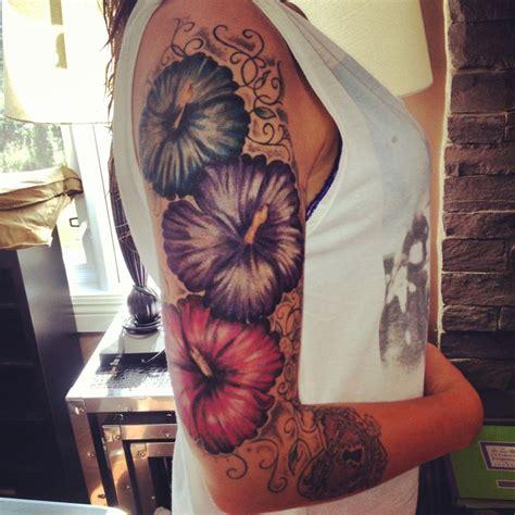 hibiscus quarter sleeve tattoo 446 best tattoo ideas images on pinterest ideas for