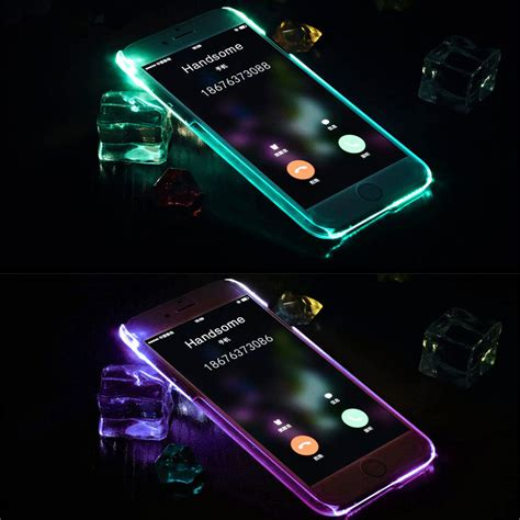 flashing light for incoming calls on iphone soft tpu led flash light up case remind incoming call
