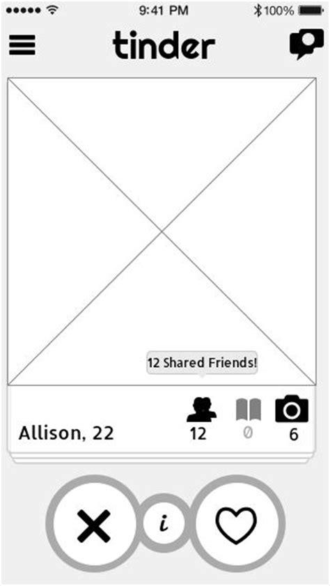 ui design pattern c tinder user profile ui design pattern wireframe