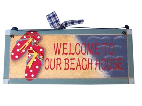 wholesale home decor signs buy wooden welcome to our beach house sign 12 inch