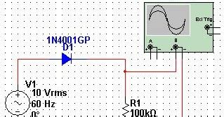diode rectifier in multisim pn junction diode as half wave rectifier multisim simulation