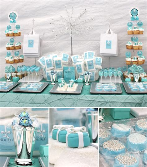 tiffany themed events tiffany s theme party bridal shower themes pinterest