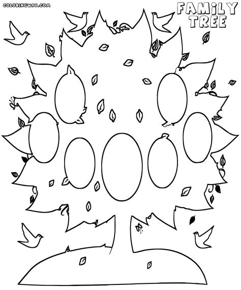 printable coloring page family tree family tree coloring pages coloring pages to download