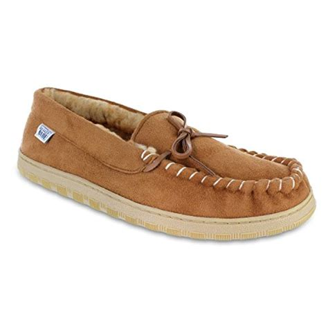 fleece lined mens slippers mens fleece lined moccasin slippers