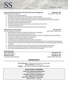 resume sample director of community involvement