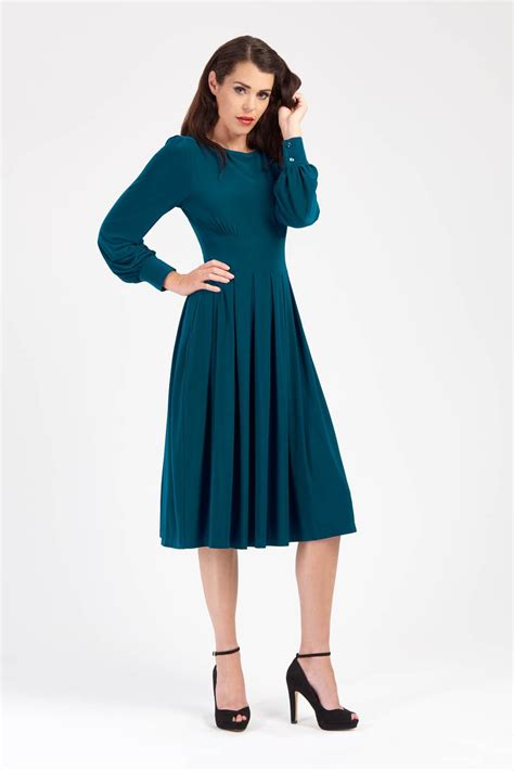 Dress Valerie Uk 1 2 Th Dress Anak Perempuan Murah Dress K valerie teal bishop sleeve dress zoe vine