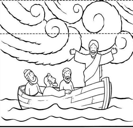 printable coloring pages of jesus calming the storm jesus calms the storm coloring pages