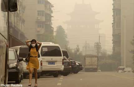 chinas wuhan city covered  mysterious haze