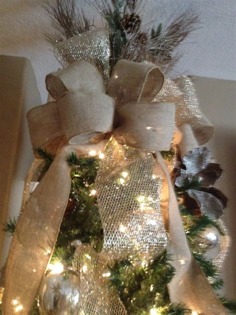 Decorating Tree With Burlap Ribbon by House To Home Photos Design Decor