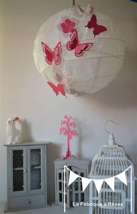 abat jour chambre fille luminaire suspension abat jour papillons fleurs