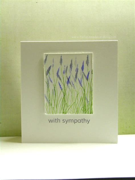 Handmade Sympathy Cards - handmade sympathy card the handmade card