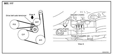 fan belt diagram nissan interstar 2 5 dci 2008 fixya