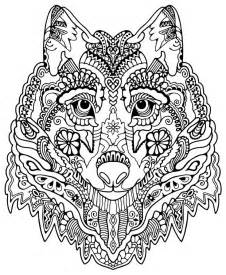 wolf coloring pages for adults awesome wolf from quot awesome animals quot dibujos