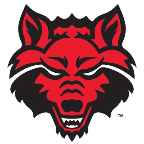 logo arkansas state university red wolves wolf head