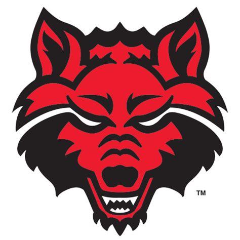 logo arkansas state university red wolves wolf head