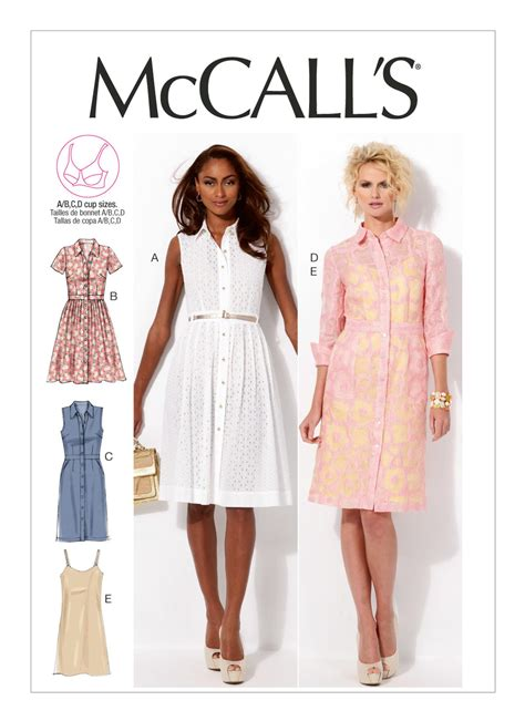 mccall s mccall s 6696 misses dresses and slip