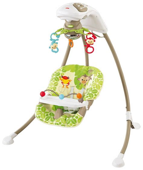 fisher price rainforest swing buy fisher price rainforest open top cradle swing online