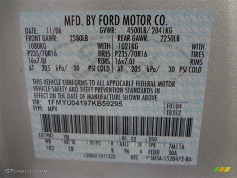 2007 escape color code yn for silver metallic photo 58689712 gtcarlot