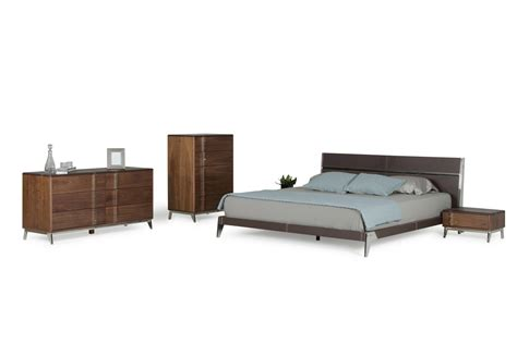 stainless steel bedroom furniture nova domus ria contemporary brown eco leather stainless