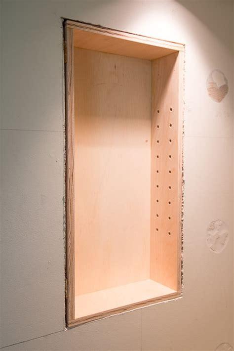 bathroom recessed shelves how to build recessed bathroom shelves the handyman s