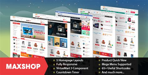themeforest joomla themeforest maxshop v1 1 0 multipurpose ecommerce