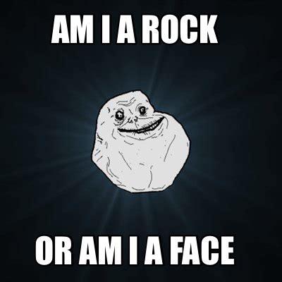 I Am Rock meme creator am i a rock or am i a meme