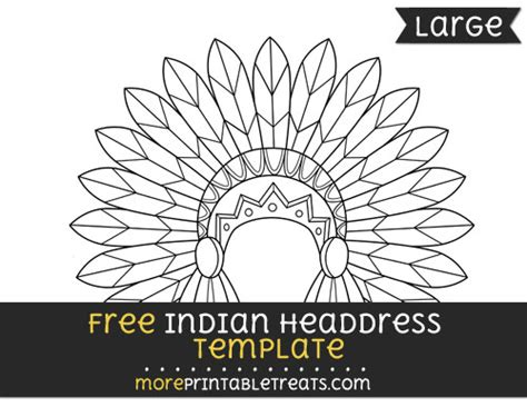 indian headdress template indian headdress template large