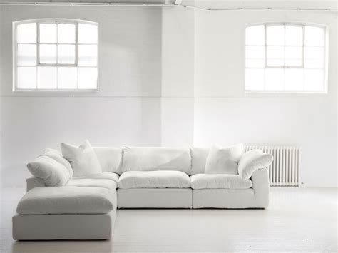 white linen sectional furniture collection sofas product truman sectional sofa