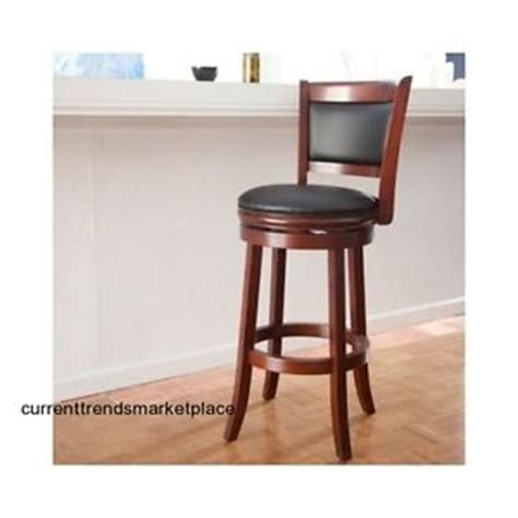 kitchen bar stools swivel padded seat cherry island