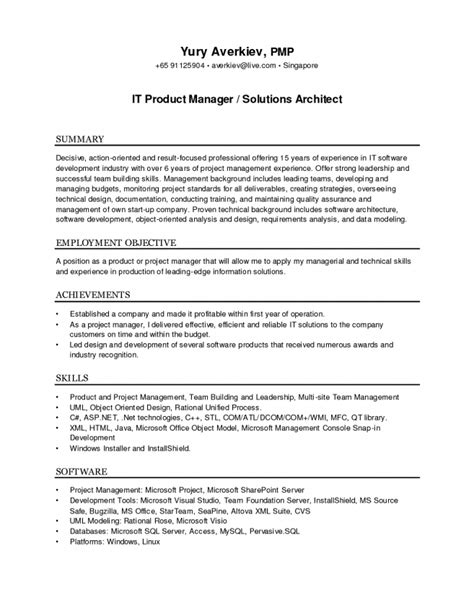 solution architect resume resume ideas