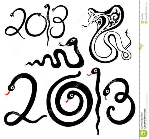 new year symbols snake year snakes symbol royalty free stock photography image 25052597
