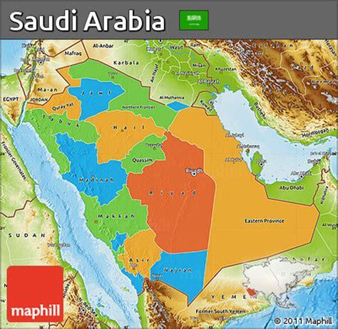 saudi arabia political map free political map of saudi arabia physical outside
