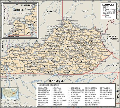 kentucky interactive map illinois kentucky map