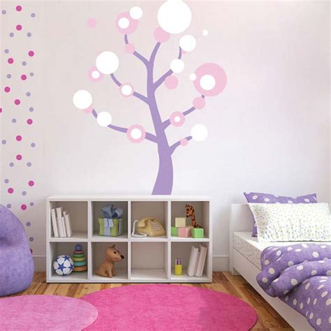 trendy wall designs polka dot tree wall art design trendy wall designs