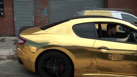black and gold maserati wrap in gold chrome maserati granturismo mc stradale