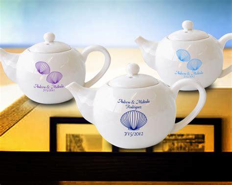 Custom Mini Teapots by Seashell Personalized Mini Tea Pots Sauce Pots 4 Oz Korin