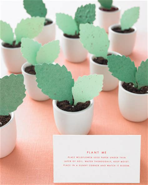 How To Make Plantable Seed Paper - diy plantable paper leaf favors 187 hill city