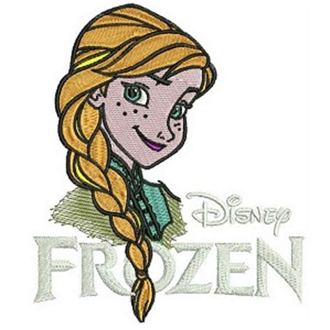 embroidery design frozen logo happy anna iron on patch