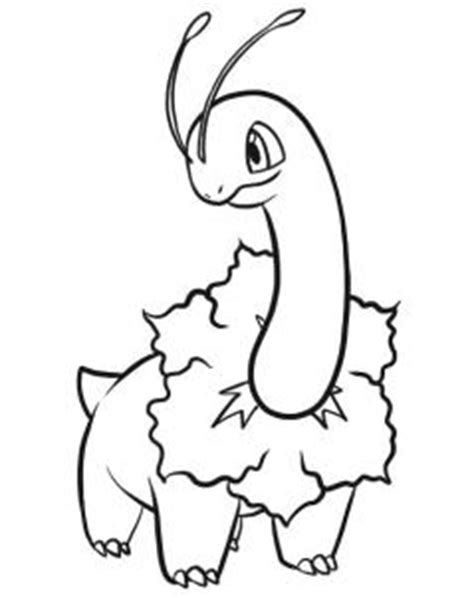 pokemon coloring pages chikorita how to draw meganium hellokids com