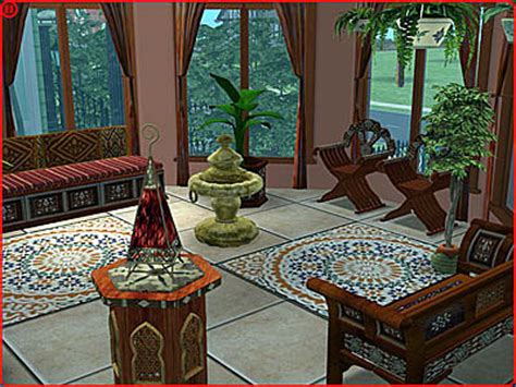 moroccan living room set sims2sets