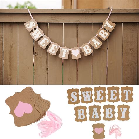 Bunting Flag Diy Banner Baby Shower Banner Bridal Shower Banner Req sweet baby wedding banner bunting garland photo props hanging decor sign ebay