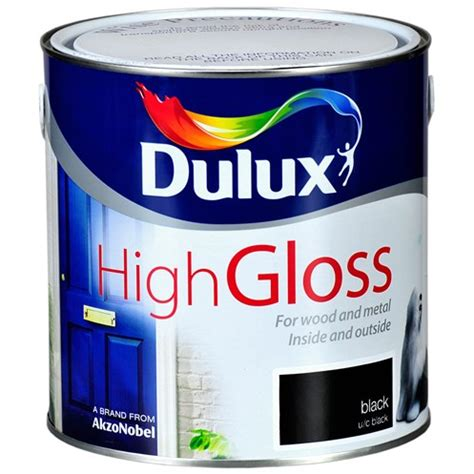 high gloss paint dulux high gloss black paint 2 5 litre gloss topline ie